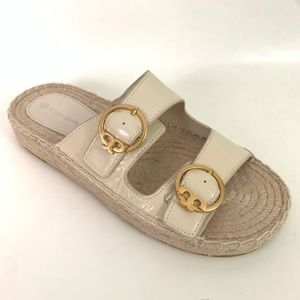 Tory Burch Selby Two-Band Espadrille Sandal
